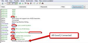 "FileZilla Bug Version 3.10.0.1 ""Failed to retrieve directory listing"""